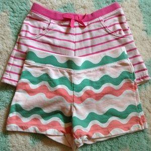 bundle of 2 GYMBOREE striped cotton play shorts 6